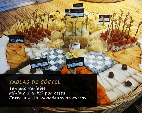 Tabla de cóctel Eventos Los Quesos de L'Amélie